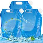 NALCY 3 x 10 liter waterjerrycan, opvouwbaar, voor outdoor, camping, wandelen, reizen, opvouwbaar