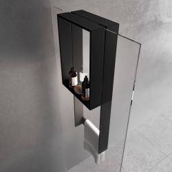 Novellini Frame Hangend Planchet 35x17,8x90 cm Mat Zwart