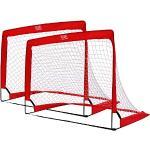 Ocean 5 Goalgetter set van 2 Pop-Up Voetbalgoals, Opvouwbare Voetbal Goaltjes in de Tuin, 120 x 90 x 90 cm, Voetbaldoelen voor Kinderen en Tieners, 2 inklapbare Minigoals, ook voor Hockey en Handbal