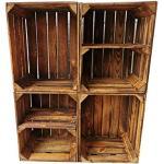 Oude gevlamde fruitkisten/houten kisten in vele variaties – ideaal voor meubelbouw of opslag – zeer massief en stabiel verwerkt (set van 4 / 2 x bodemdwars)