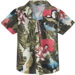 Overhemd met bloemenprint van bio-katoen, kleurrijk 122/128,98/104,110/116,134/140,158/164,146/152,86/92
