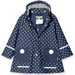 Playshoes Meisjesregenjas met stippen, marineblauw, 140 cm