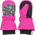Playshoes Uniseks kinderwanten warme winterhandschoenen met klittenbandsluiting, roze (roze sneeuwvlok), 12-24 Maanden