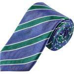 Plus size : Ascot, Tie with stripe pattern in a Light Blue Plussize: