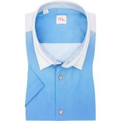 Plus size : Tom Rusborg, Short sleeve shirt with a stylish print in a Blue Plussize: