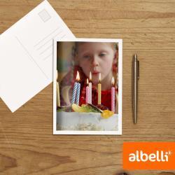Postkaarten met eigen foto (18x13 cm) set van 10 stuks.