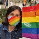 Regenboog Gezichtsmasker (beschikbaar In Volwassengrootte)