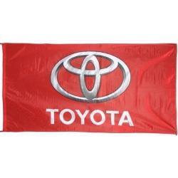 Rode garage vlag Toyota