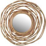 Rotan spiegel 75x75cm Dutchbone Kubu
