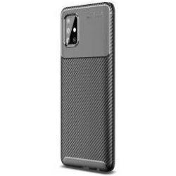 Samsung Galaxy A51 Hoesje Geborsteld Carbon Zwart