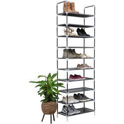 Schoenenrek voor 20 paar - Zwart - 10 etages