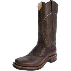 Retro Bruine Sendra Boots Herenschoenen met motief van Paarden