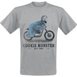 Sesame Street Cookie Monster Mannen T-shirt grijs gemêleerd - Officieel & gelicentieerd merch