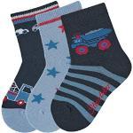 Sterntaler baby - jongens sokjes pak van 3 vrachtwagensokken, grijs (antraciet melange) 592), (grootte fabrikant: