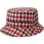 Stetson Vichy Check Bucket Stoffen Hoed rood