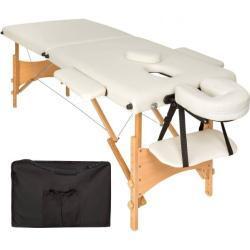 tectake 2 zone massagetafel Freddi 5cm matras + tas - beige