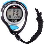 TIS stopwatch Pro 100 lap 8 x 6 cm zwart/blauw 2 delig