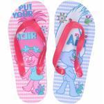Trolls teenslippers roze/blauw voor meisjes