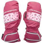 Ultrasport Basic Skihandschoenen voor kinderen, Starflake, wanten en sneeuw-/winterhandschoenen, waterbestendig en winddicht, met goede bewegingsvrijheid, anti-slip handpalmen, voor 2 – 14 jaar