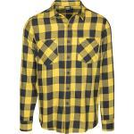 Urban Classics Checked Flannel Mannen Flanellen overhemd zwart geel