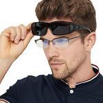 UV400 rechthoekige Fit Over Bril Zonnebril met Zijschild Rijden Lens Koper Wikkelbescherming Bril