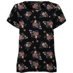 VERO MODA T-shirt VMSAGA met all over print zwart/oudroze