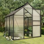 vidaXL Broeikas 3,61 m² aluminium antraciet