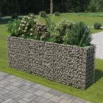 vidaXL Gabion plantenbak verhoogd 270x50x100 cm gegalvaniseerd staal