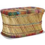 vidaXL Salontafel met chindi details bamboe meerkleurig