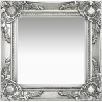 vidaXL Wandspiegel barok stijl 40x40 cm zilverkleurig