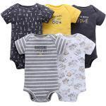 Vine 5-Pack Baby korte mouw Romper Pasgeboren Romper Katoen Jumpsuit Douche Gift Sets, B-05, 6-9 Maanden