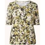 Weber Gerry Weber T-Shirt met trekkoord en bloemenprint - Mosgroen