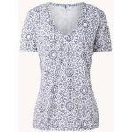 Blauwe Gerry Weber Shirts V-hals voor Dames