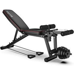 Workout Bench Olympic Workout Bench Press,Adjustable Weight Bench,Body Solid Leg Extension Leg Curl Machine,For Full Body Workout,Max Load 200Kg