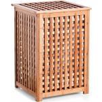 Zeller Present - Houten wasmand met deksel bamboe