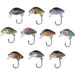 Zite Fishing Mini-wobbler set - 10 ultra licht kunstaas box forel baars - enkele haak forelwobbler 2,9 cm 1,8 g