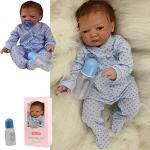ZIYIUI Reborn Babypop Jongen 20 Inch 50cm Zachte Siliconen Vinyl Levensecht Handgemaakt Echte Leven Reborn Poppen Magnetische Mond Verjaardag Cadeaus Reborn Baby Dolls