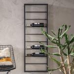 Zwart wijnrek hangend 42x6x120cm Kare Design Bistro